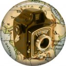 Fotobox Camera, 1 Inch Button Badge Pin of Vintage Image - 0219
