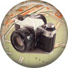 Canon AE 1 Camera, 1 Inch Button Badge Pin of Vintage Image - 0220
