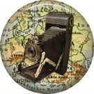 Eastman Kodak Camera, 1 Inch Button Badge Pin of Vintage Image - 0221