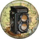 Rolleiflex Camera, 1 Inch Button Badge Pin of Vintage Image - 0225