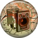 Brownie Camera, 1 Inch Button Badge Pin of Vintage Image - 0227