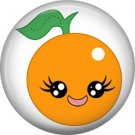 Orange, Fruit Cuties 1 Inch Button Badge Pin - 0289