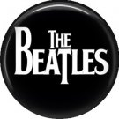The Beatles, White Lettering on Black 1 Inch Button Badge Pin - 0273