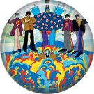 The Beatles Yellow Submarine Psychedelic Image, 1 Inch  Button Badge Pin - 0278