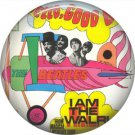 The Beatles in Airplane Psychedelic Image, 1 Inch Button Badge Pin - 6080