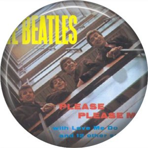 The Beatles on a 1 Inch Pinback Button Badge Pin - 6093