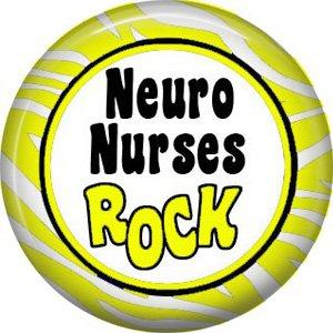 Neuro Nurses Rock, 1 Inch Button Badge Pin of Occupation Nurse - 0252