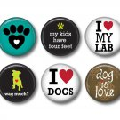 Set of 12 Dog is Love on 1 Inch Pinback Button Badge Pins - Set 3