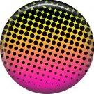Multi Colored Graduated Dots, 1 Inch Punk Princess Button Badge Pin - 0340