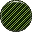 Green and Black Stripes, 1 Inch Punk Princess Button Badge Pin - 0359