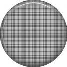 Gray Plaid Pinback 1 Inch Punk Princess Button Badge Pin - 0376