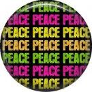 Repeated Peace, 1 Inch Pinback Punk Princess Button Badge Pin - 0384