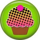 Graduated Dots Cupcake, 1 Inch Pinback Punk Princess Button Badge Pin - 0390