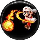 Mario Throwing Fire Ball, Video Games 1 Inch Pinback Button Badge Pin - 0755