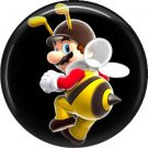 Bee Mario, Video Games 1 Inch Pinback Button Badge Pin - 0761
