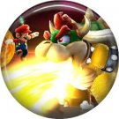 King Koopa, Video Games 1 Inch Pinback Button Badge Pin - 0765