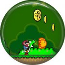 Mario with Coins, Video Games 1 Inch Pinback Button Badge Pin - 0769