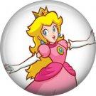 Princess Peach, Video Games 1 Inch Pinback Button Badge Pin - 0773