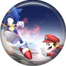 Mario and Sonic, Video Games 1 Inch Pinback Button Badge Pin - 0776