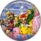 Mario Bros. Characters, Video Games 1 Inch Pinback Button Badge Pin - 0778