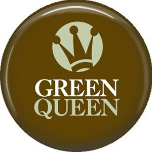 1 Inch Green Queen on Brown Background, Ecology Button Badge Pin - 1350