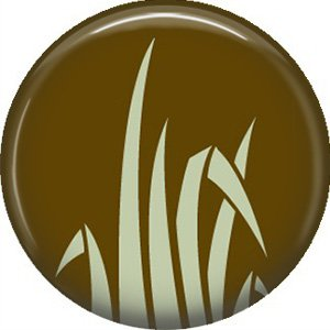 1 Inch Grass, Ecology Button Badge Pin - 1356