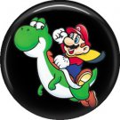 Mario and Yoshi, Video Games 1 Inch Pinback Button Badge Pin - 0779