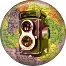 Shanghai Camera, 1 Inch Button Badge Pin of Vintage Image - 0224