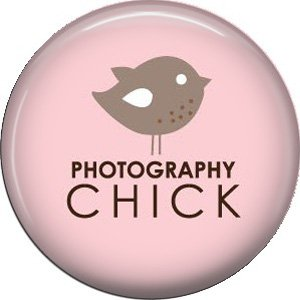 Photography Chick on Pink Background, 1 Inch Photography Hobbies Button Badge Pinback - 1440