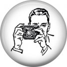 Photographer, 1 Inch Photography Hobbies Button Badge Pinback - 1454