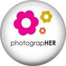 Photographer, 1 Inch Photography Hobbies Button Badge Pinback - 1457
