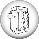 Camera Drawing, 1 Inch Photography Hobbies Button Badge Pinback - 1462