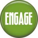 Engage, 1 Inch Button Badge Pin Star Trek Fun Phrases - 1534