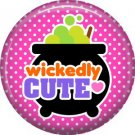 Wickedly Cute Halloween 1 Inch Pinback Button Badge Pin - 6219