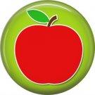 1 Inch Apple, Teacher Appreciation Button Badge Pin - 0838
