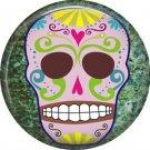 Dia de los Muertos Sugar Skull 1 inch Button Badge Pin - 6270