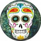 Dia de los Muertos Sugar Skull 1 inch Button Badge Pin - 6271
