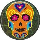 Dia de los Muertos Sugar Skull 1 inch Button Badge Pin - 6276