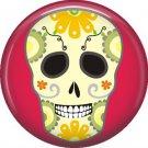 Dia de los Muertos Sugar Skull 1 inch Button Badge Pin - 6282