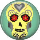 Dia de los Muertos Sugar Skull 1 inch Button Badge Pin - 6283
