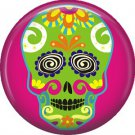 Dia de los Muertos Sugar Skull 1 inch Button Badge Pin - 6289