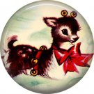 Mid Century Retro Christmas Image on a 1 inch Button Badge Pin - 3084