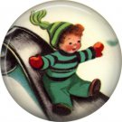 Mid Century Retro Christmas Image on a 1 inch Button Badge Pin - 3085