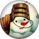 Mid Century Retro Christmas Image on a 1 inch Button Badge Pin - 3087