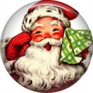 Mid Century Retro Christmas Image on a 1 inch Button Badge Pin - 3092