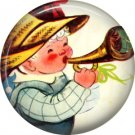 Mid Century Retro Christmas Image on a 1 inch Button Badge Pin - 3093