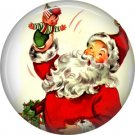 Mid Century Retro Christmas Image on a 1 inch Button Badge Pin - 3094