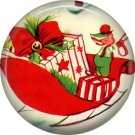 Mid Century Retro Christmas Image on a 1 inch Button Badge Pin - 3095