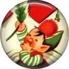 Mid Century Retro Christmas Image on a 1 inch Button Badge Pin - 3100