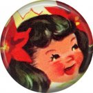 Mid Century Retro Christmas Image on a 1 inch Button Badge Pin - 3101